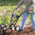 how to use a tiller to remove grass