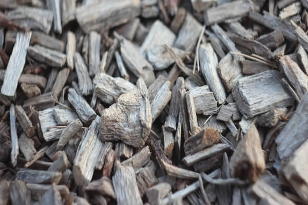 mulch with wood